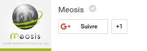 Suivez Meosis sur Google+